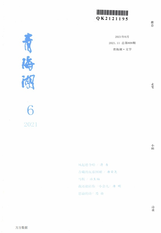 青海湖文学月刊杂志