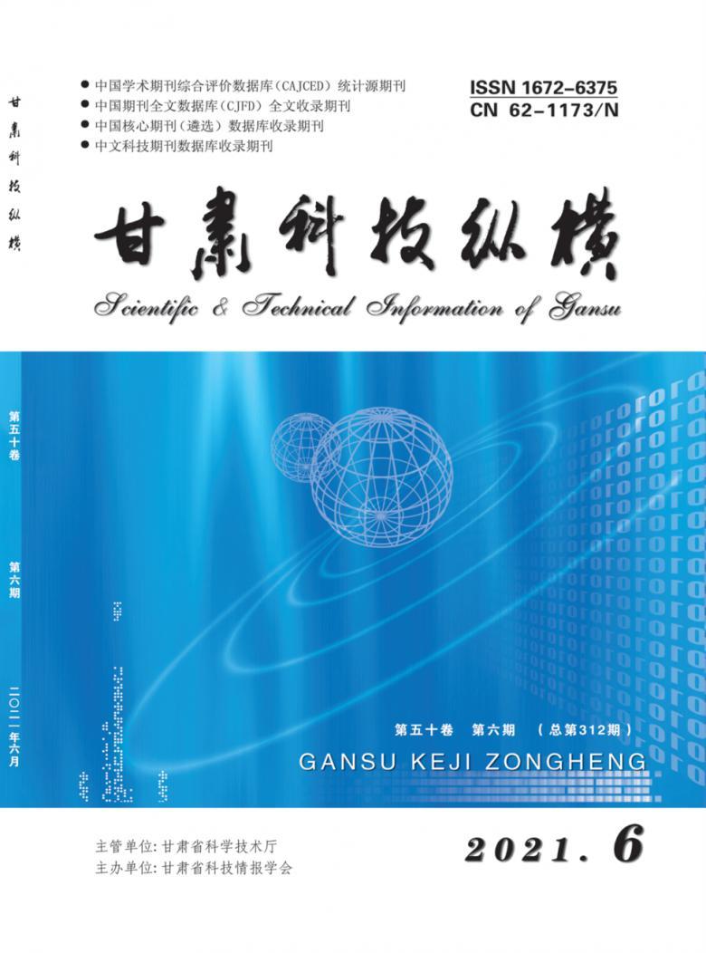 甘肃科技纵横杂志